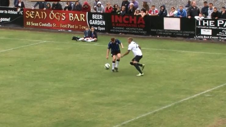 Video: Bobby Zamora pulled off a delicious nutmeg against Athlone Town last night