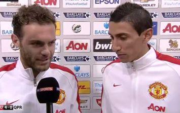 Video: Juan Mata acts as interpreter as Angel di Maria takes Man Of The Match award