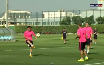 Video: Barcelona's 'one foot to another' training drill is fantastic