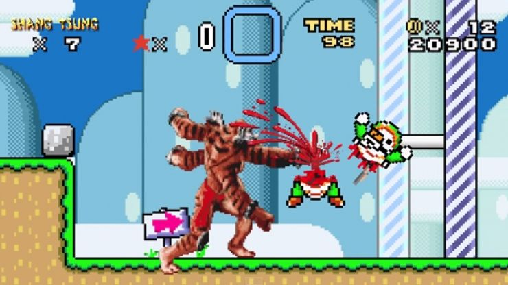 Video: Super Mario World mixed with Mortal Kombat is bloody fantastic