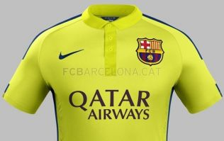 Pic: Barcelona unveil their third-choice strip featuring 2 different shades of yellow