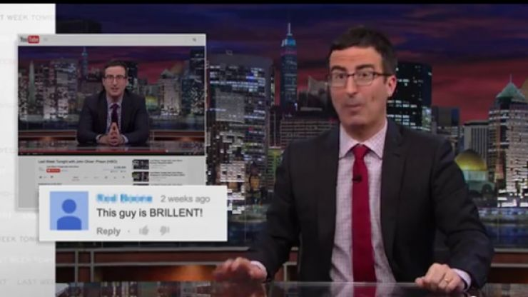 Video: John Oliver hilariously reads out the nastiest fan mail and YouTube comments about his show