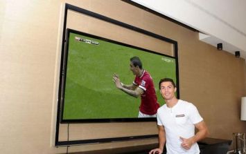 Cristiano Ronaldo celebrating Angel di Maria's first Man United goal? Afraid not, it's a fake...