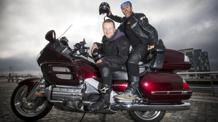 PJ Gallagher and JOE's Eric Lalor launch the Route 66 Challenge for Temple St Children's Hospital