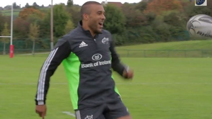 Video: Munster did the keepy-uppy challenge for Blue September and Simon Zebo brought his A-game