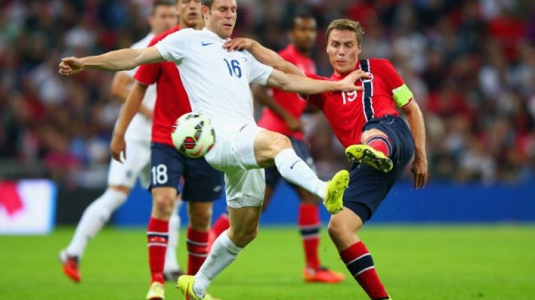 Vine: James Milner played one of the worst passes you'll ever see during the England game last night