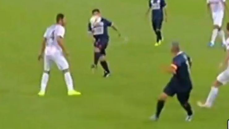 Video: Diego Maradona and Roberto Baggio combine for outrageous goal at Match for Peace