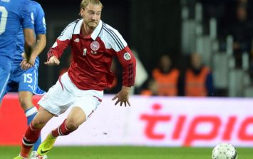 Vine: Nicklas Bendtner attempts the sublime, achieves the ridiculous