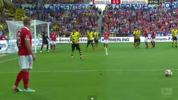 Video: Check out possibly the worst free-kick in the history of football from the Bundesliga this weekend