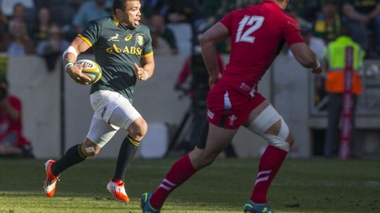 Pic: Bryan Habana's pair of custom Adidas boots for his 100th Springbok cap are pretty sweet