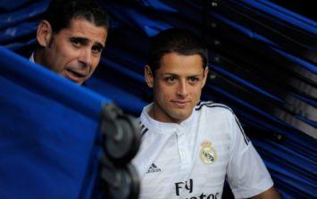 Vine: Javier Hernandez's first goal for Real Madrid was a very un-Hernandez like stunner