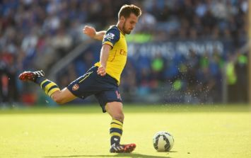 Vine: Aaron Ramsey delivered the worst pass of the Premier League season so far yesterday