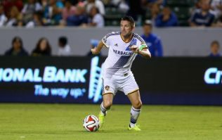 Video: Robbie Keane got ran over by an excited LA Galaxy teammate after setting up a goal last night