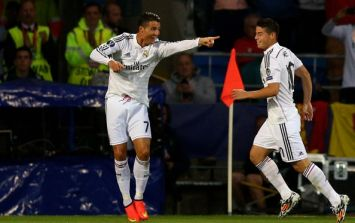 Vine: Cristiano Ronaldo and James Rodriguez have both scored great goals for Real Madrid today