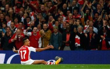 Vine: Alexis Sanchez's delightful free-kick gave Arsenal the lead against Southampton this evening