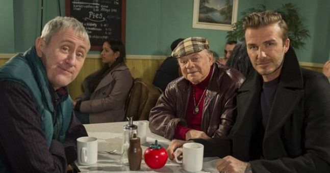 Video: Watch Del Boy take the p**s out of David Beckham on 'Only Fools and Horses'