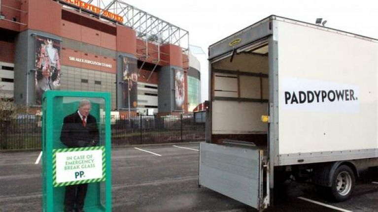 Pic: Fergie time? Paddy Power delivery 'emergency' Alex Ferguson to Old Trafford