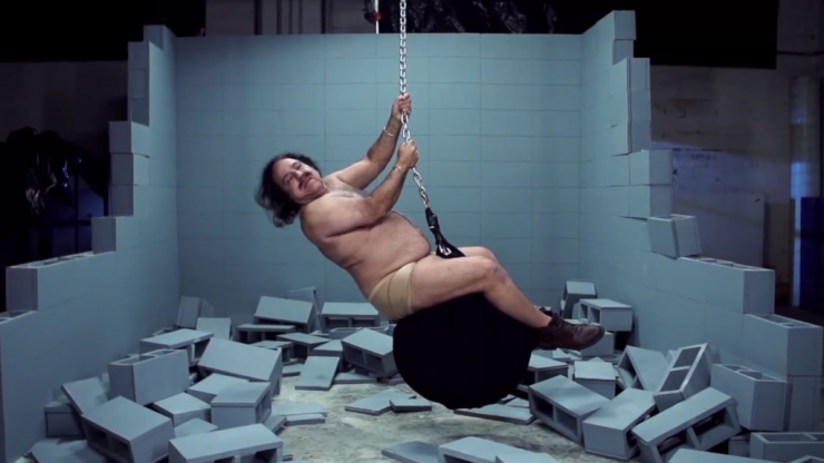 Video: Ron Jeremy swinging on a wrecking ball is quite possibly the most disturbing video you'll watch today