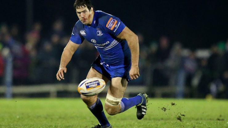 Picture: Leinster's Mike McCarthy was absolutely covered in blood after being stamped on