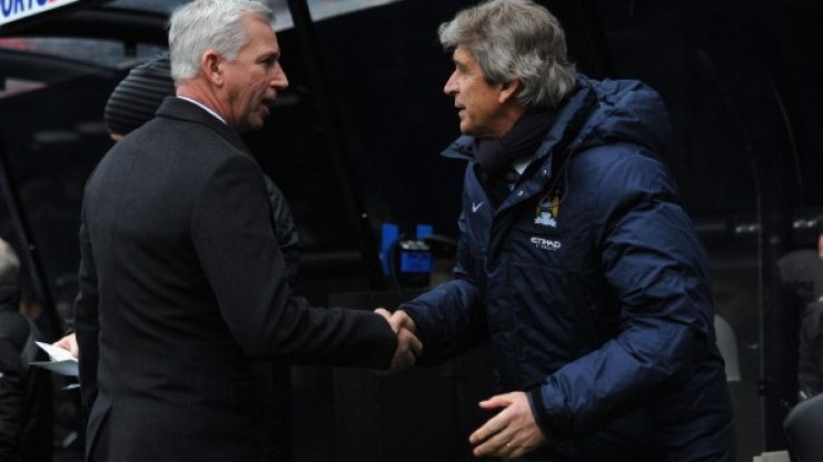 Video: You don't need to be a lip-reader to know what Alan Pardew was saying to Manuel Pellegrini here