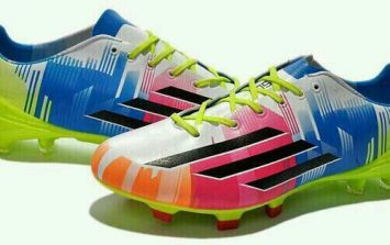 Pic: Lionel Messi's brand new boots are very, very colourful