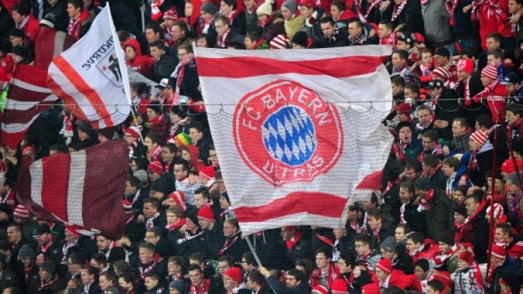 Pic: Bayern Munich fans hold up banner supporting homosexuality in football
