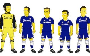 Pic: Chelsea's players meet themselves as Simpsons characters