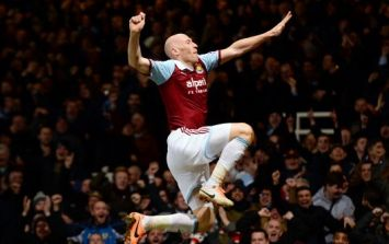 Pic: Looks like West Ham's James Collins is in the running to be Miss Wales 2014