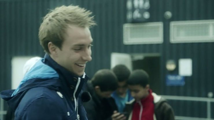 Video: Christian Eriksen nutmegs a little boy and makes him cry