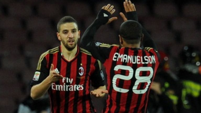 Video: Adel Taarabt scores just eight minutes into his AC Milan debut against Napoli