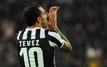Pic: A Carlos Tevez goal celebration gives rise to one of the pictures of the season