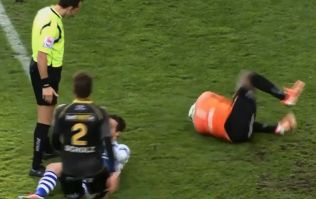Video: Goalkeeper in Belgium reacts in ridiculous fashion after accidental collision with opposition striker