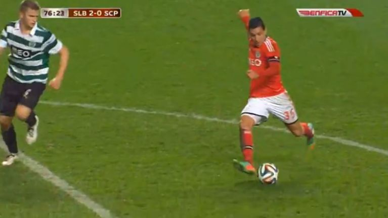 Video: Enzo Perez's brilliant goal gave Benfica the edge over Sporting in the Lisbon derby