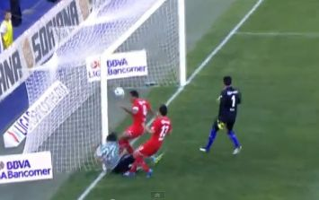 Video: Mexican striker scores great goal but collides horribly with the post in the process