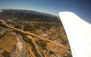 GoPro dropped from plane captures incredible footage... and then lands in a manky pigpen