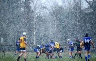 Video and pics: This is how snowy it was during the all-Dublin Fitzgibbon Cup clash today
