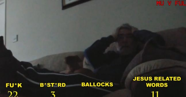 Video: Irish dad's priceless reaction to watching Manchester United draw with Fulham (NSFW language)