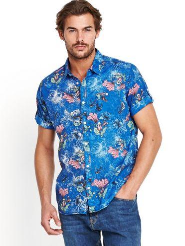Animated Men's Short Sleeved Print Shirt - €45