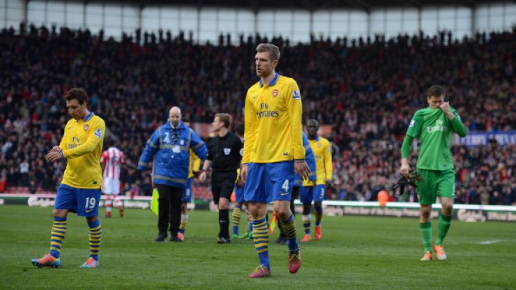 Arsenal lose ground at the top of the table after Walters gives Stoke victory at the Britannia