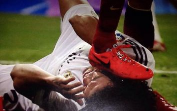 Vine: Did Sergio Busquets mean to stamp on Pepe's head during last night's Clasico?