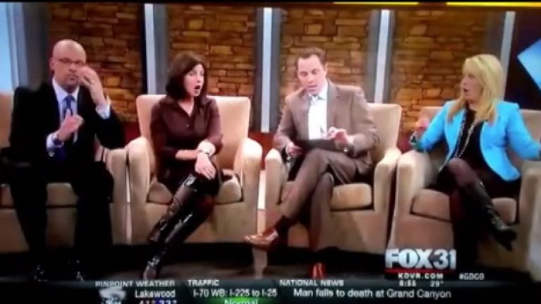 Video: Streaming a Twitter feed live on air results in a dick pic popping up on US morning news show [NSFW]