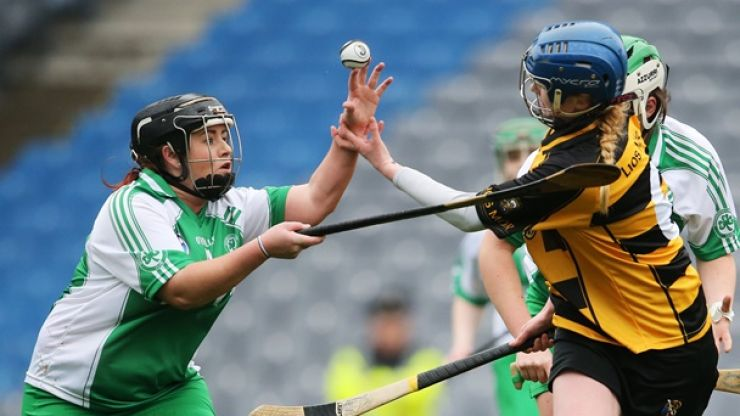 GAA Picture of the Year contender as Lismore camogie player attempts to block sliotar with bare hands