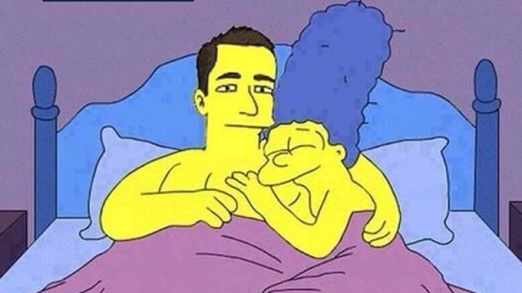 Pic: John Terry clearly has no shame, as he makes Marge cheat on Homer in The Simpsons