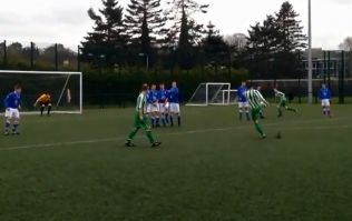 Video: Junior soccer player in Northern Ireland wins the prize for the most hilariously bad free-kick of 2014