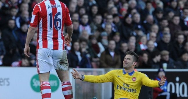 Video: Charlie Adam charged with violent conduct for this stamp on Olivier Giroud