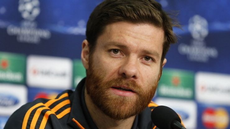 Pic: Xabi Alonso hangs in mid air, possibly on an invisible jet-pack