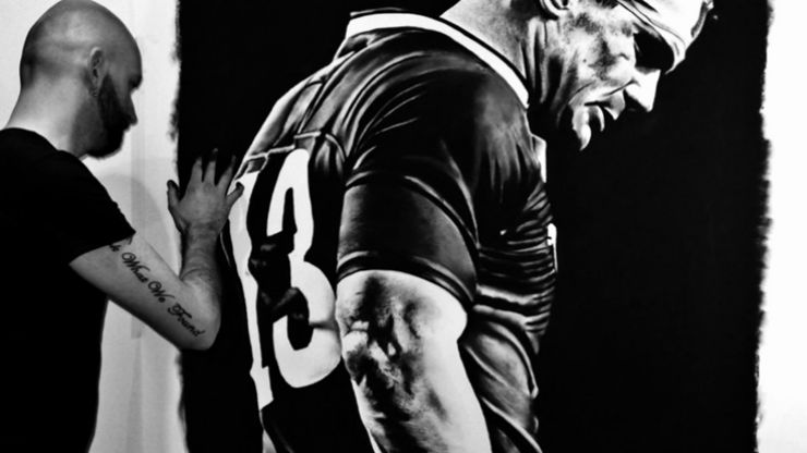 Video: Irish artist makes amazing portrait of Brian O'Driscoll