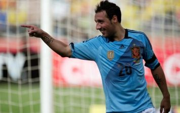 Video: Santi Cazorla fools Iker Casillas and scores goal with cheeky dummy at Spain training