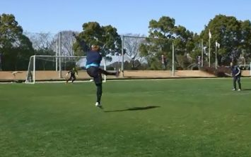 Video: You simply have to see this truly incredible outside of the boot training ground goal from Japan