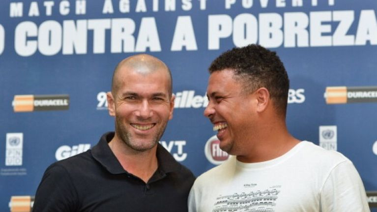 Pic: Ronaldo and Zidane have put together one hell of a team for a charity match in Switzerland tonight
